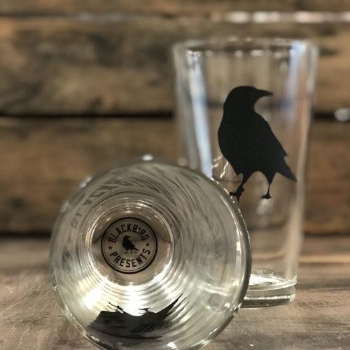 blackbird pint glass