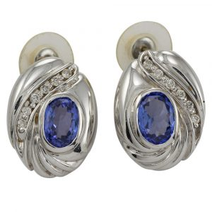 Tazanite & Diamond Earrings