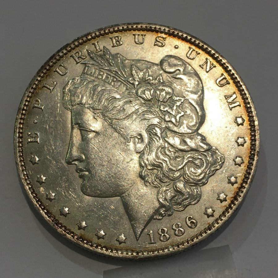 1886-O $1 Morgan Silver Dollar Rare US Coin Almost Uncircualted