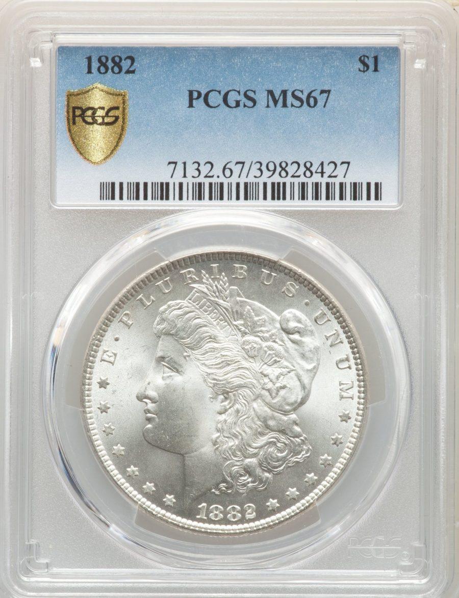1882 $1 Morgan Dollar – PCGS MS67
