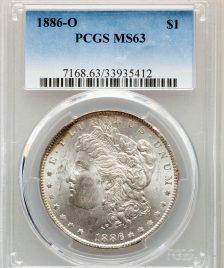 1886-O $1 Morgan Dollar PCGS MS63