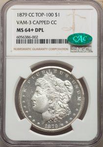 1879-CC $1 Capped Die Morgan Dollar NGC&CAC MS64+DPL