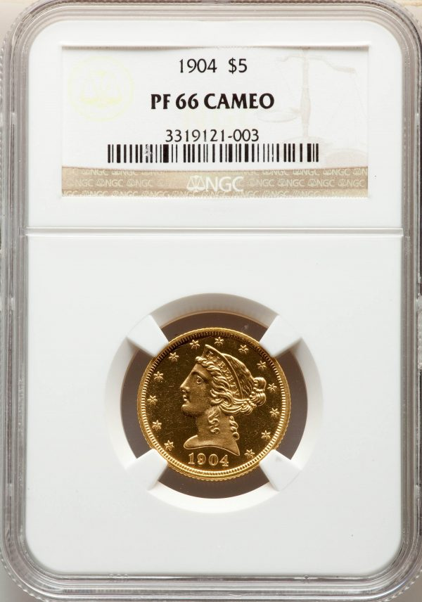1904 $5 Proof Cameo