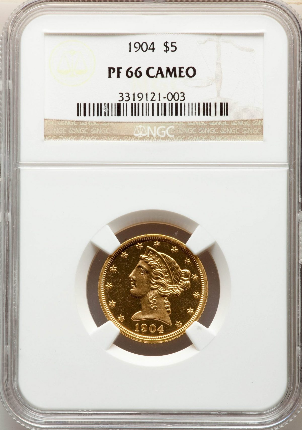 1904 $5 Proof Cameo