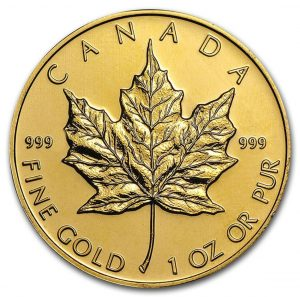 Canada 1 oz Gold Maple Leaf .999 Fine