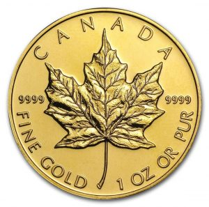 Canada 1 oz Gold Maple Leaf .9999 Fine