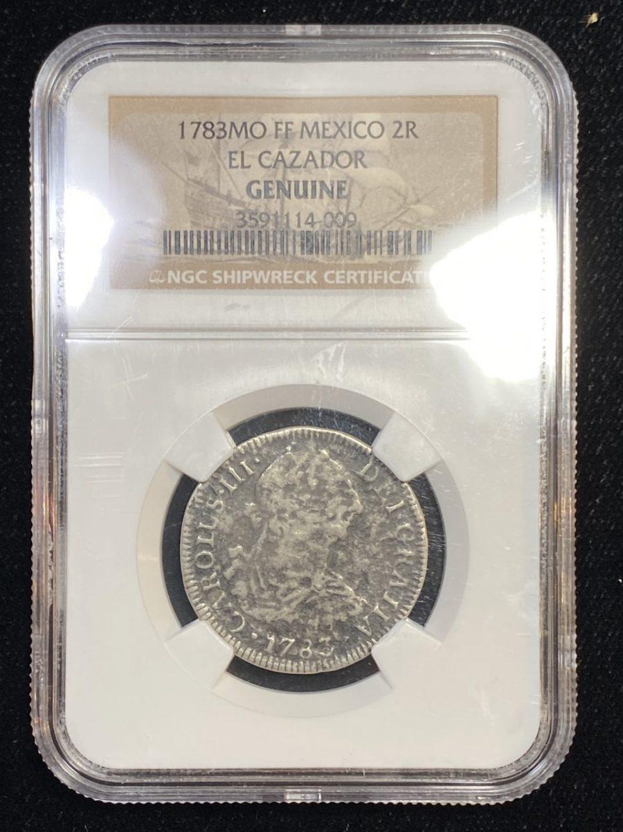 1873MO FF Mexico 2R El Cazador Shipwreck NGC Shipwreck Effect Silver Coin