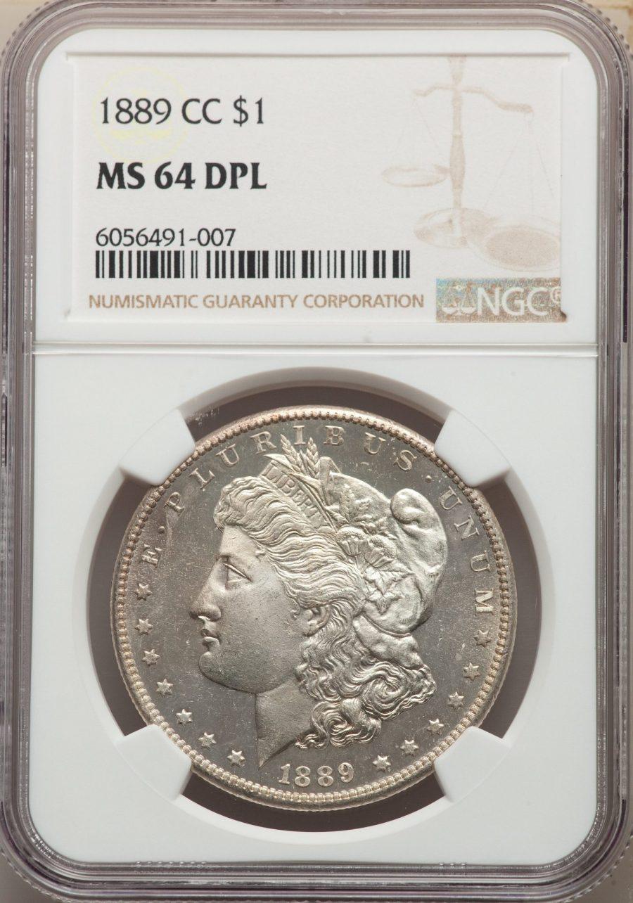 1889-CC $1 Morgan Dollar NGC MS64DPL