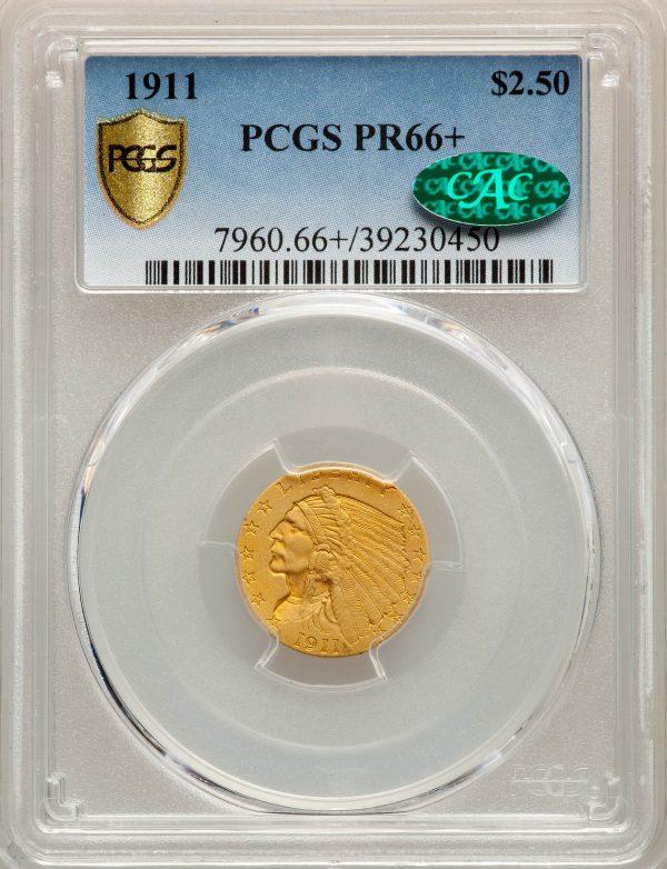 1911 $2.50 Indian eagle matte proof