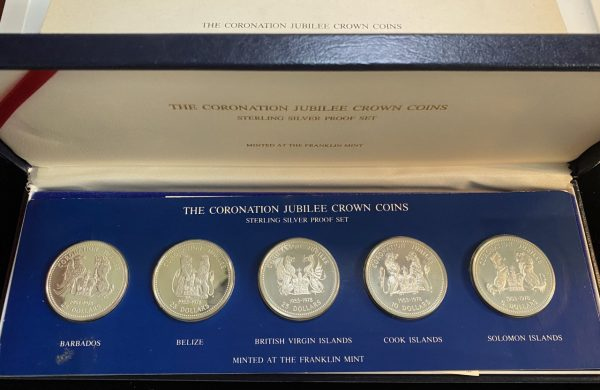 1978 Canada CORONATION JUBILEE 5 CROWN COINS Sterling Silver Proof Set W/ Box COA