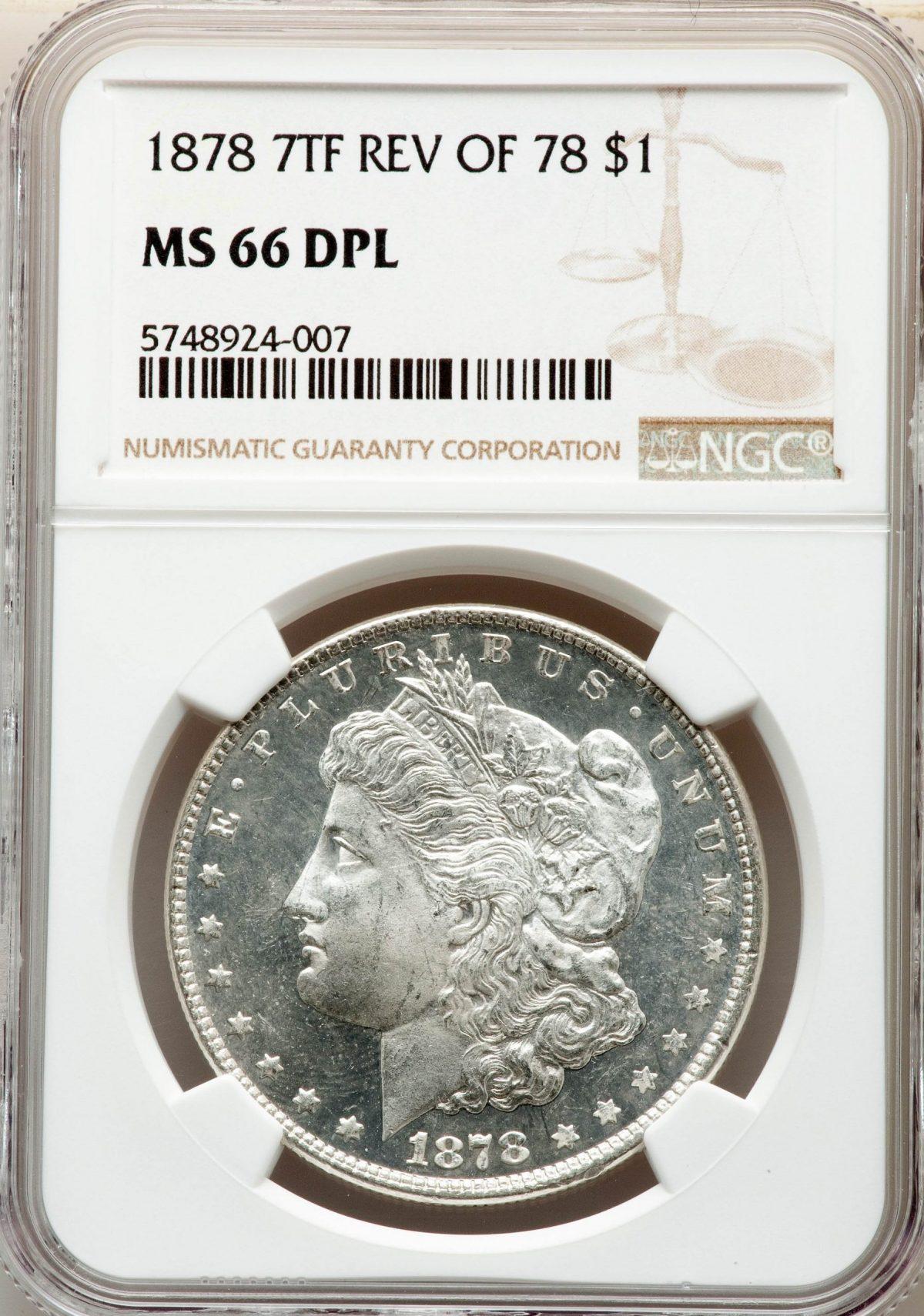 1878 7TF Morgan DPL Dollar Top Pop