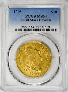 1799 Small Stars Eagle Capped Bust BD-7