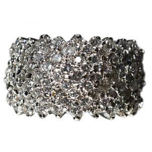 Platinum Vintage Diamond Cocktail Ring