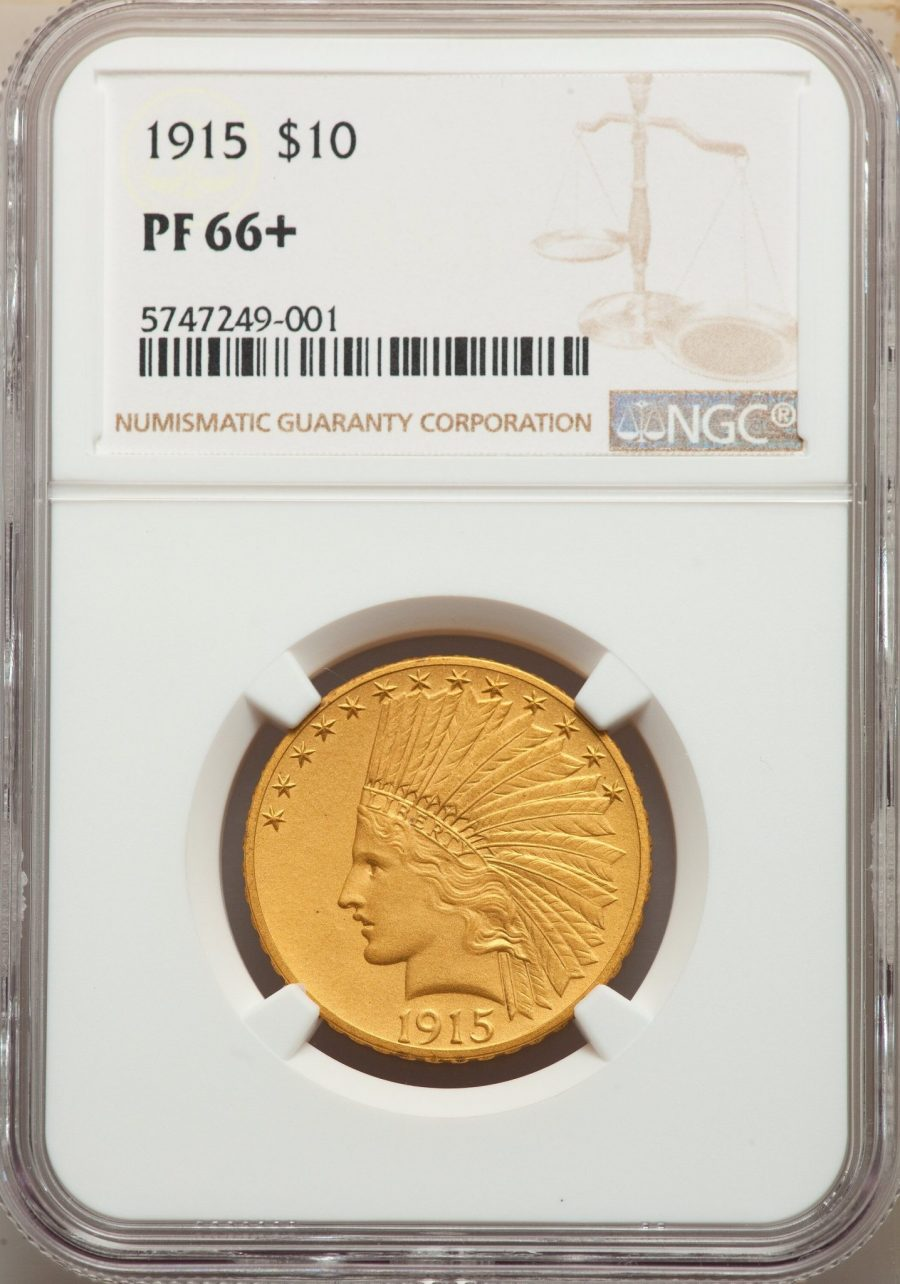 1915 $10 Indian Type 4 With Motto NGC PF66+