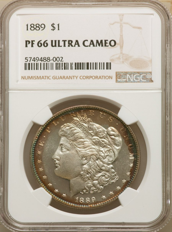 1889 $1, DC Morgan Dollar NGC PR66UCAM Ultra Cameo