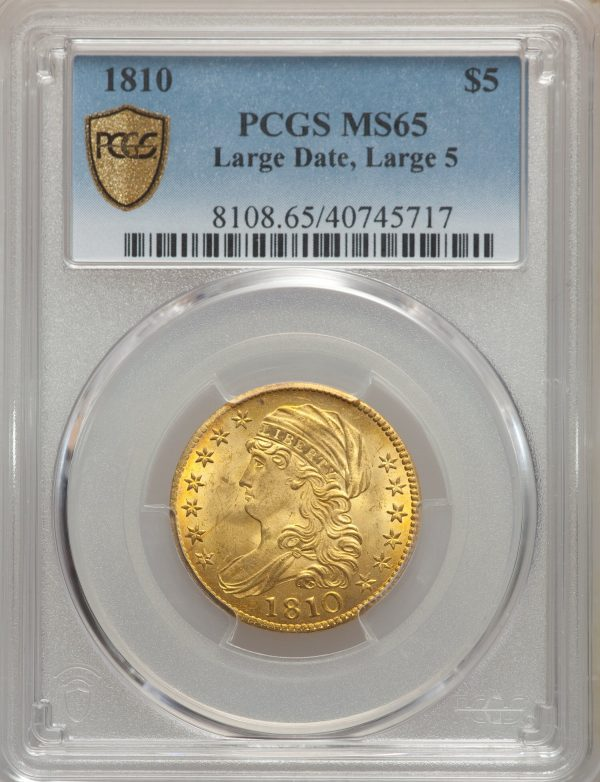 1810 $5 Large 5 Date BD-4