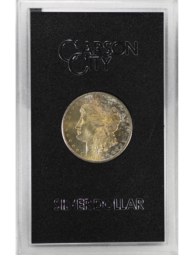 1884-CC Carson City Morgan Silver Dollar GSA Hoard Beautiful Toning