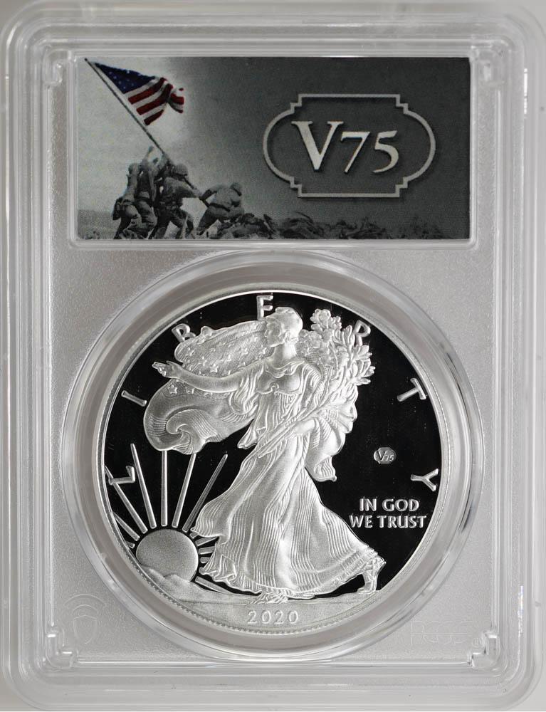 2020-W $1 Silver Eagle v75 Privy First Strike PCGS PR69DCAM