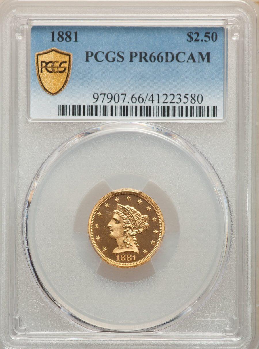 1881 $2.5 Liberty Head PCGS PR66DCAM