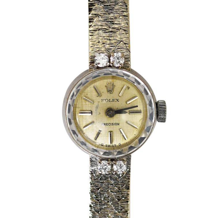 18K Yellow & White Gold Vintage Women's Rolex 18jewels, 24.4g