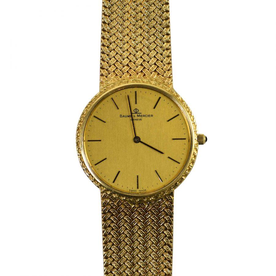 14KYG Baume & Mercier Men's Watch, 53.3gr with Box