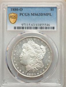 1880-O $1 Morgan Dollar PCGS MS63DMPL