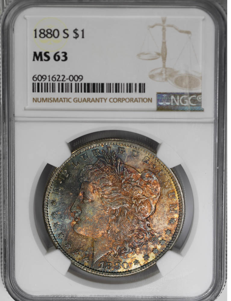 1880-S $1 Morgan Dollar NGC MS63