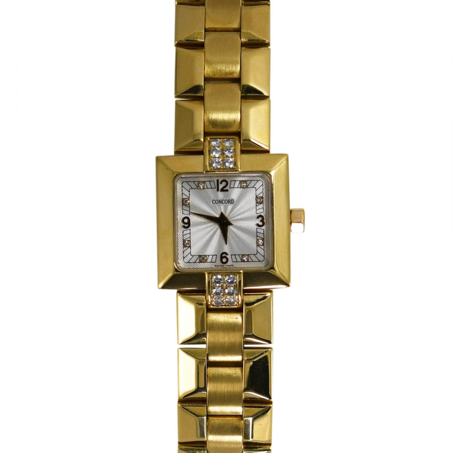18K Yellow Gold Concord Quartz Diamond Watch, 70.7g, .30tdw