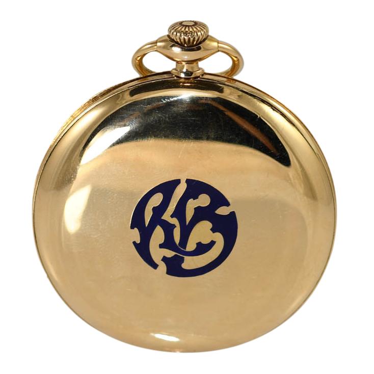 18K Yellow Gold Vacheron Constantin Pocket Watch, 19 jewels, 59.7gr
