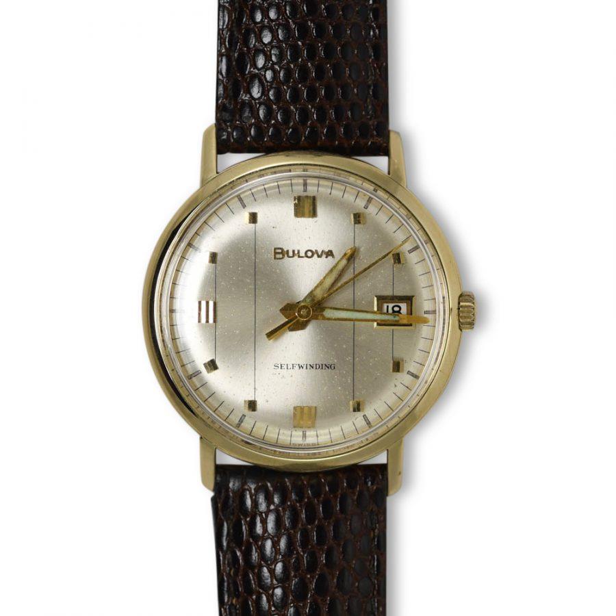 14K Yellow Gold Vintage Bulova, Auto, Wristwatch
