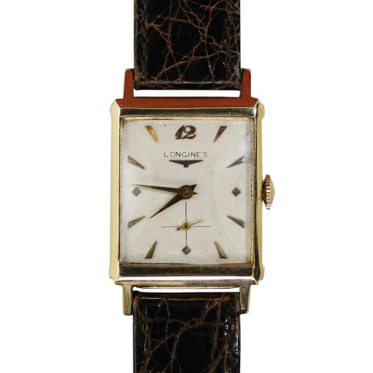 14K Yellow Gold Vintage Unisex Longines, Manual Wrist Watch