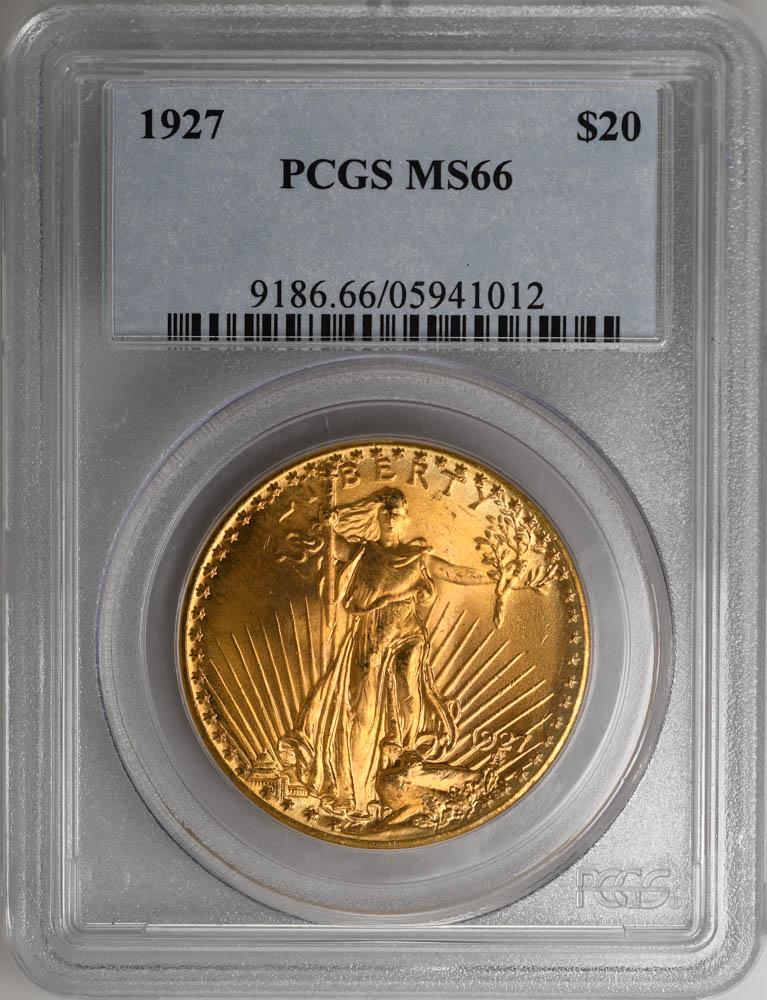 1927 $20 St. Gaudens $20 Older Holder Super PQ & Super Color