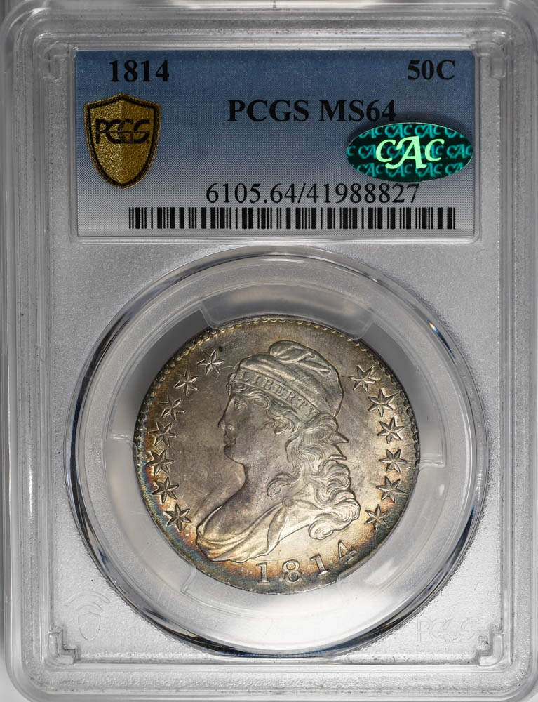 1814 50C Capped Bust Half Dollar PCGS MS64 CAC