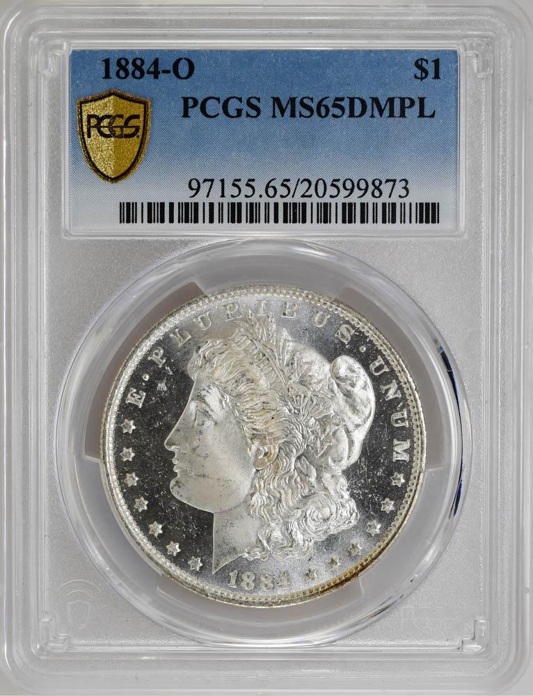 1884-O $1 Morgan Dollar PCGS MS65DMPL Silver Coin