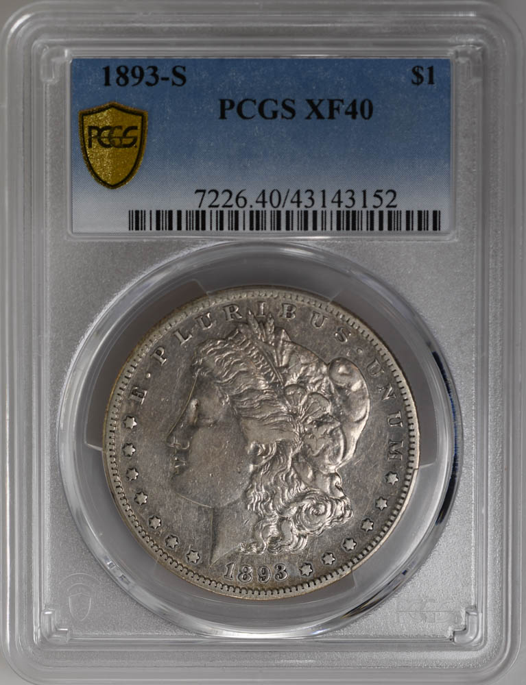 1893-S $1 Morgan Dollar PCGS XF40