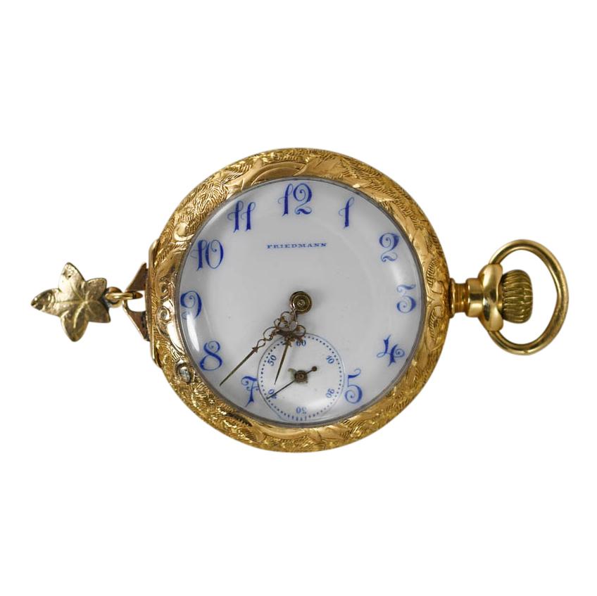 14k Gold Miniature Friedman Pocket Watch