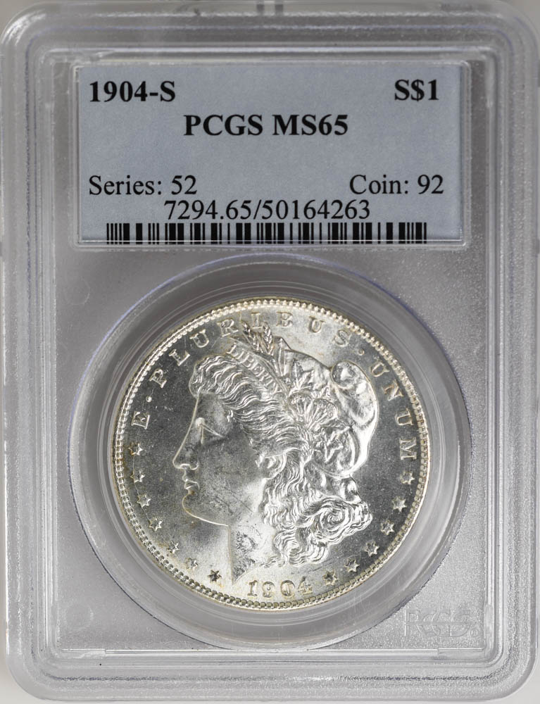 1904-S $1 Morgan Dollar PCGS MS65