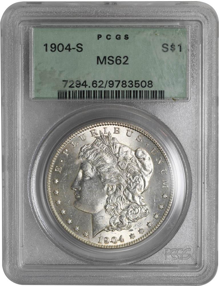 1904-S $1 Morgan Dollar PCGS MS62