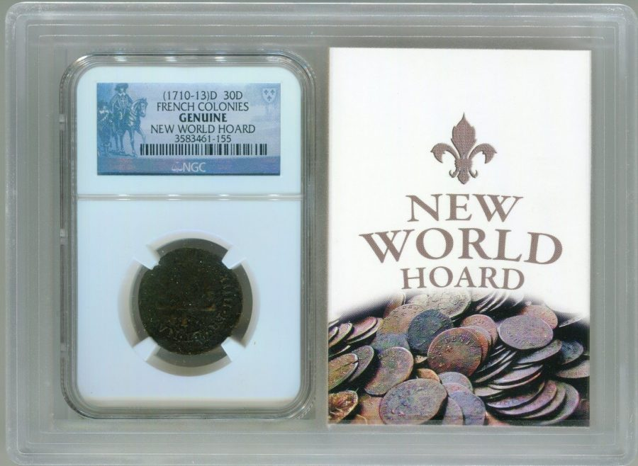 (1710-13)D 30D French Colonies, New World Hoard – NGC Genuine