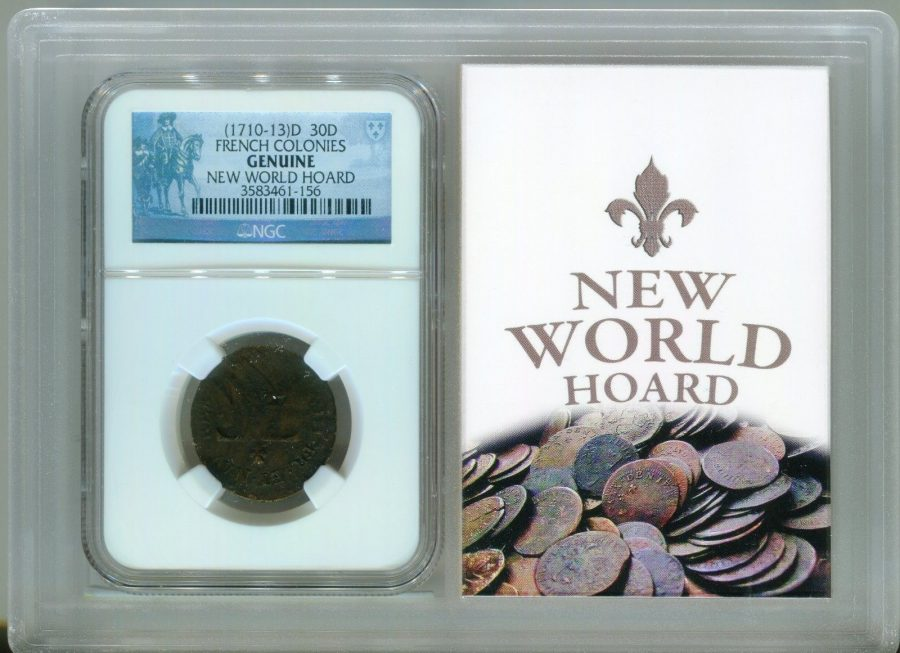 (1710-13)D 30D French Colonies New World Hoard – NGC Genuine