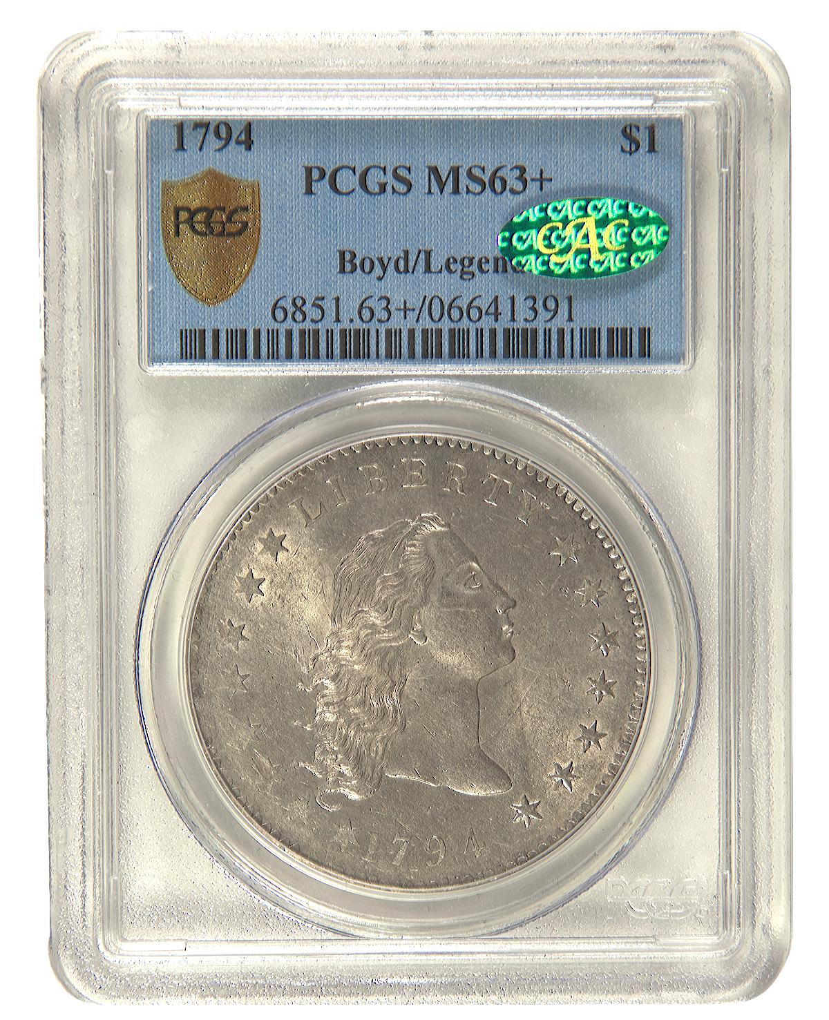 1794 $1MS63plus