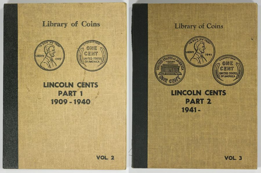 Library of Coins Lincoln Wheat Cents Albums Part 1 1909-1940  Part 2 1941