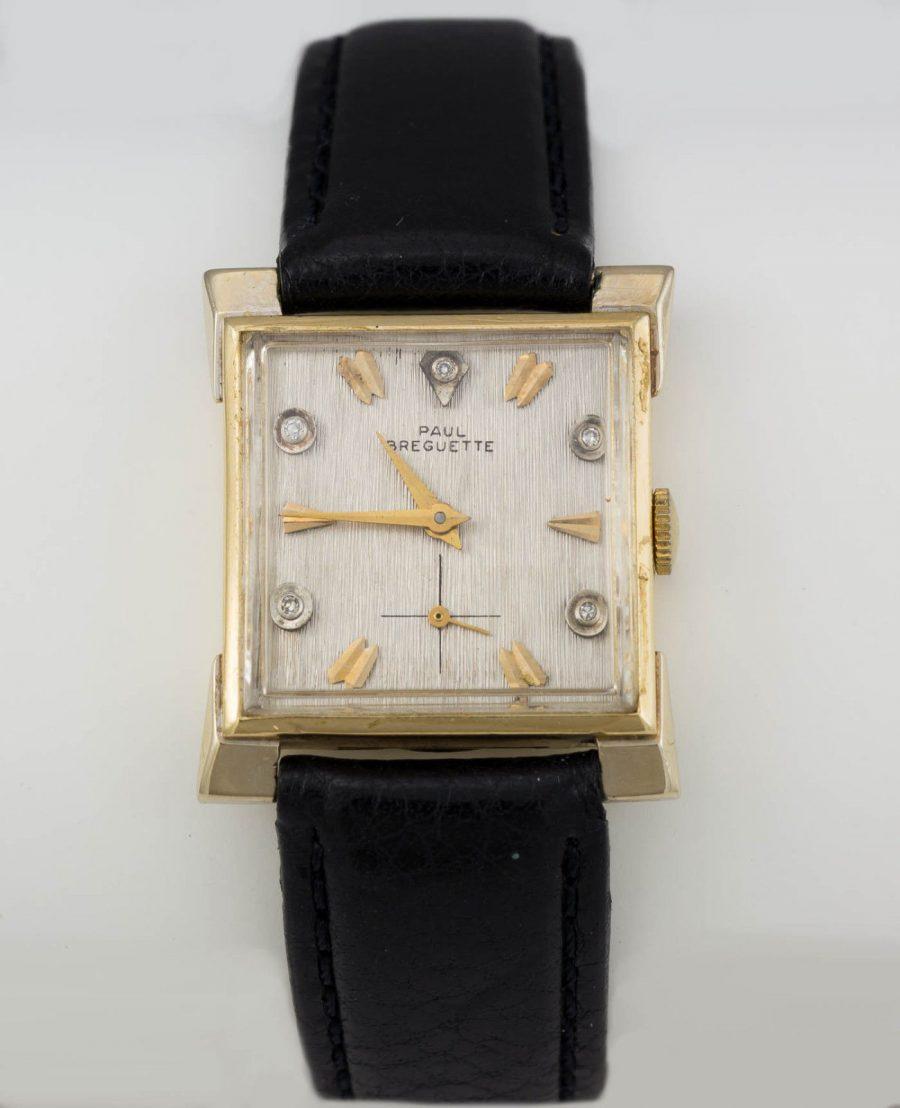 Men's Paul Breguette Vintage 14K Gold Wristwatch