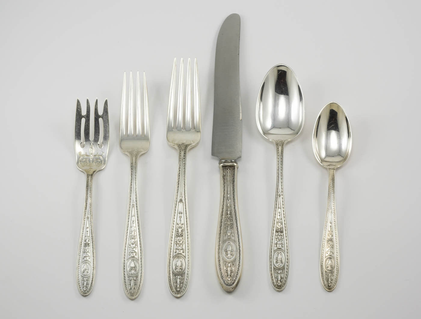 Wedgwood by International Sterling Silver Flatware Service for 8 Set 40 Pieces