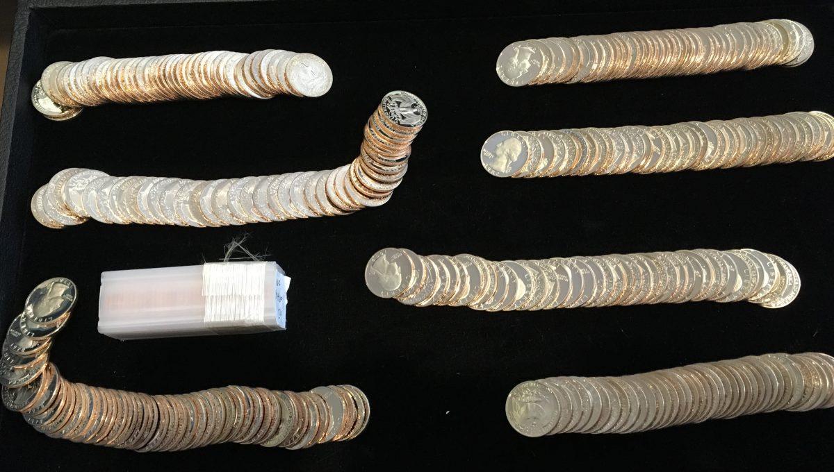 Lot of (8) Rolls of Proof Washington Quarters BU Very Nice! Wholesale!