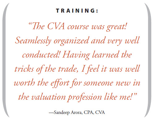 Qualifications for the CVA