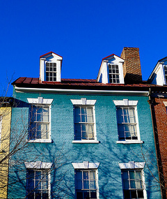picture of houses in old town