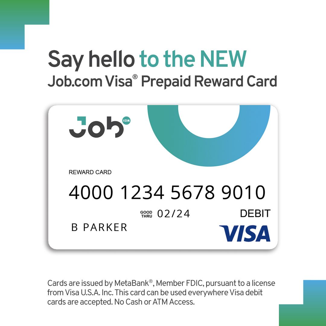 Job.com Visa Prepaid Reward Card