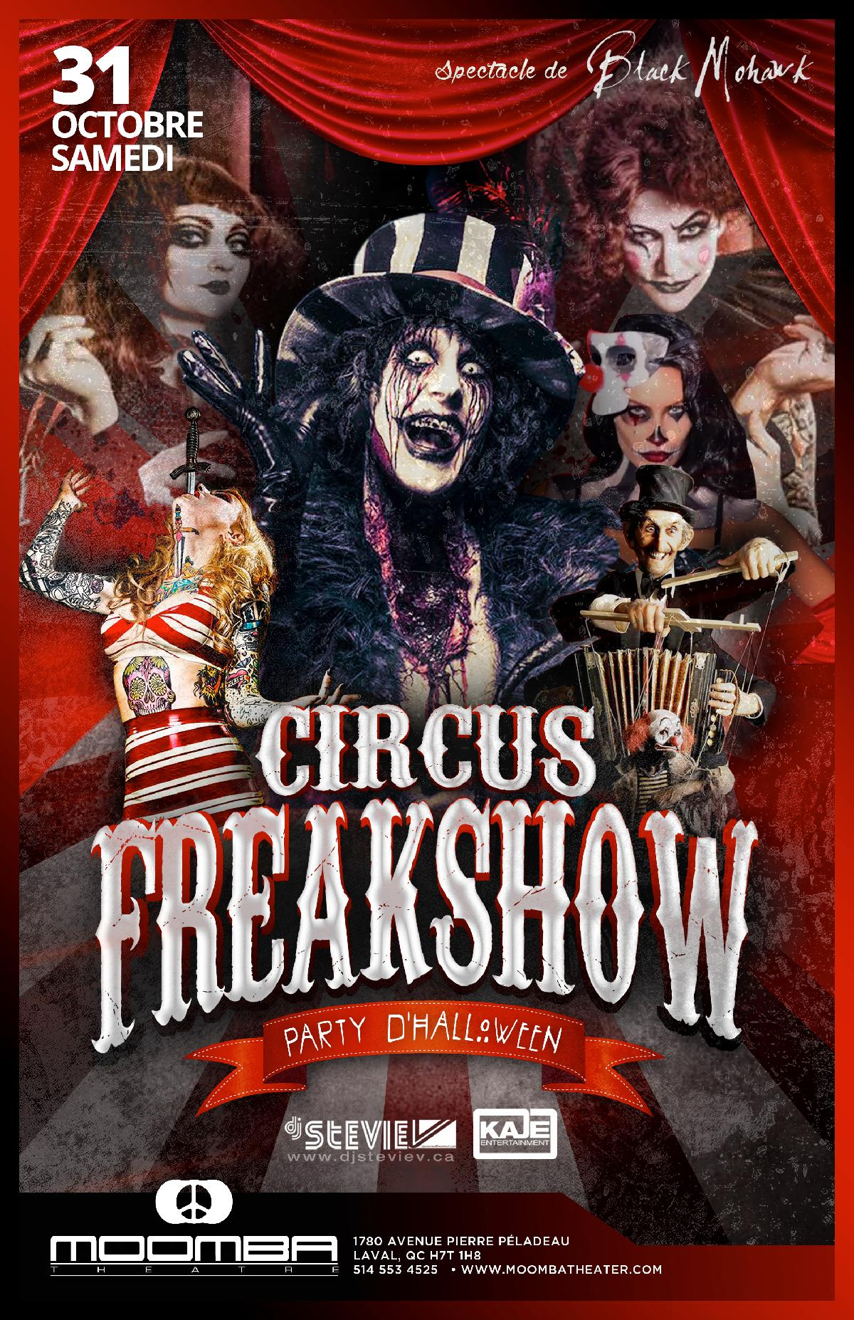 CIRCUS FREAKSHOW (Official Halloween event) :: Moomba Theater