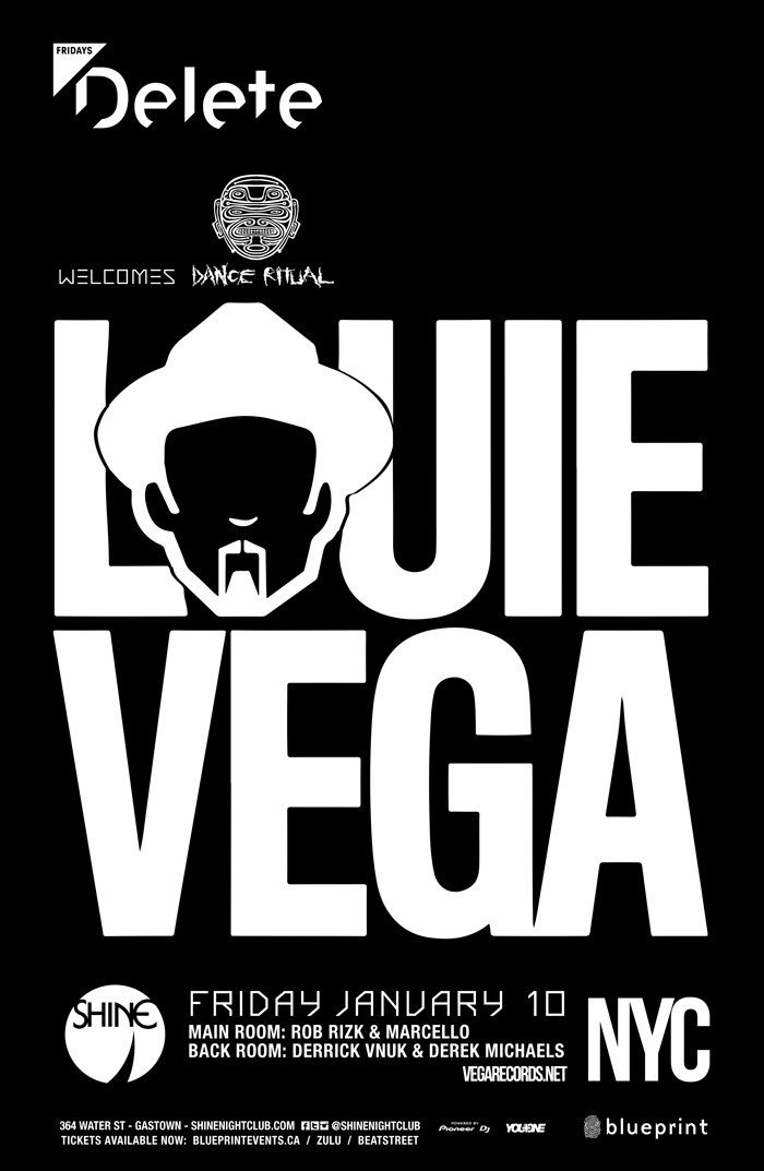 Blueprint events little louie vega deletefridays shine purchase tickets malvernweather Image collections